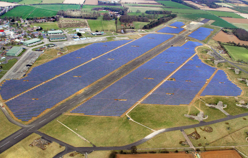 Greencoat Solar's acquisition includes the 50 MW Scottow Moor Solar farm in Norfolk, east England.