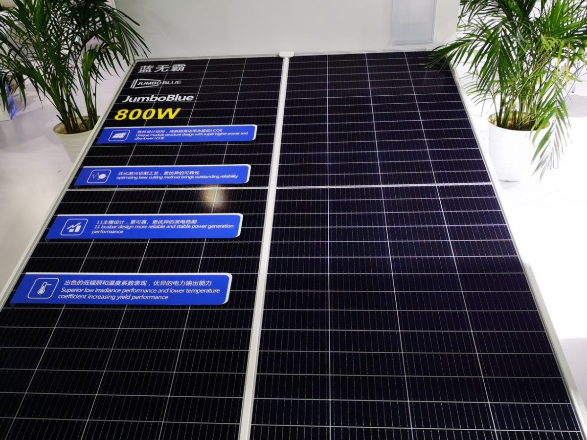 JA Solar launches 800 W solar panel
